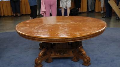 American Aesthetic Movement Oak Dining Table Ca 1880