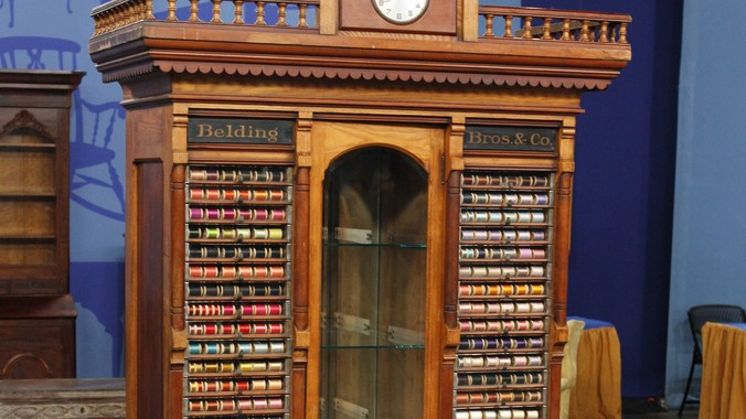 Read Appraisal Transcript - Belding Bros. & Co. Thread Spool Display Cabinet, Ca. 1880
