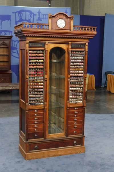 Thread Spool Display Cabinet, ca. 1880 | Antiques Roadshow | PBS - Belding Bros. & Co. Thread Spool Display Cabinet, Ca. 1880