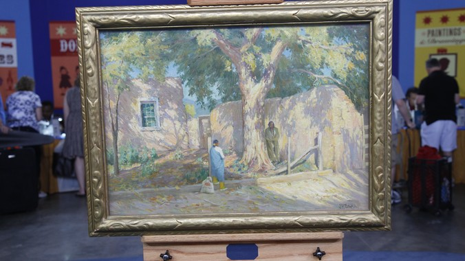Joseph Henry Sharp Oil Painting Ca 1920 Antiques