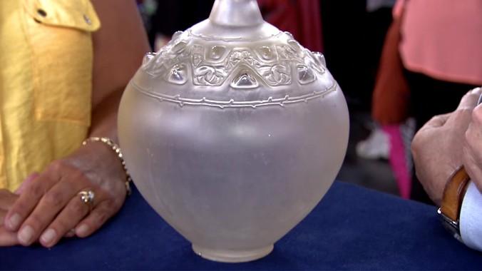 Ren Lalique Sirnes Et Cabochons Vase Ca 1914 Antiques