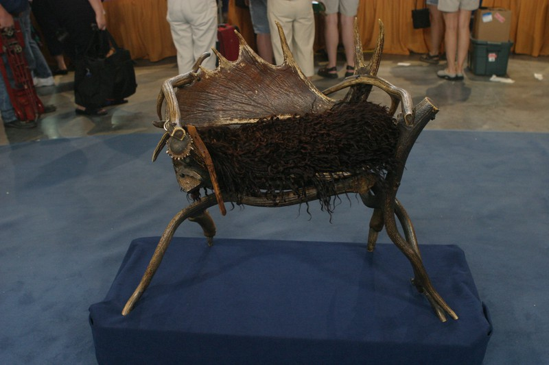 Moose Amp Elk Chair Amp Woolies Antiques Roadshow Pbs