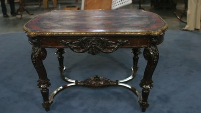 Inlaid Center Table, ca. 1870 - Appraisals Antiques Roadshow PBS