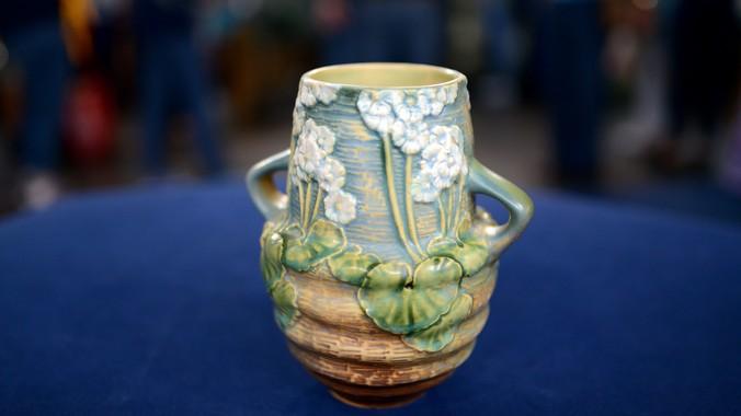 Blue Green Online >> Roseville Experimental Line Production Vase, ca. 1925 ...