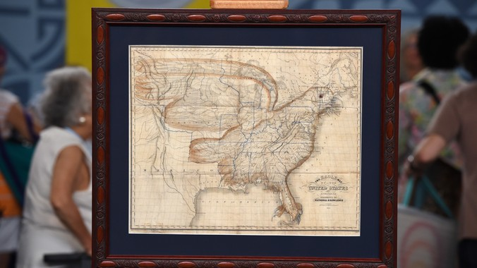 1833 Churchman Eagle Map of the United States | Antiques Roadshow | PBS