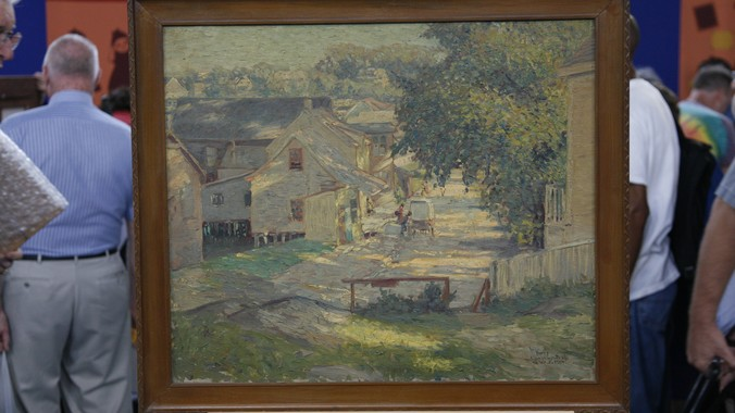 Used Car Appraisal >> Early 20th-Century George W. Sotter Oil Painting ...