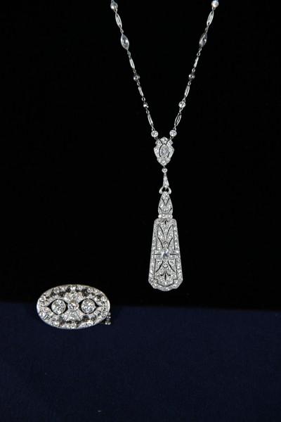 Pendant tiffany diamond necklace ca 1920 antiques roadshow pbs aloadofball Images