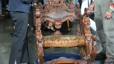 Venetian Hand Carved Rocking Chair, Ca. 1880