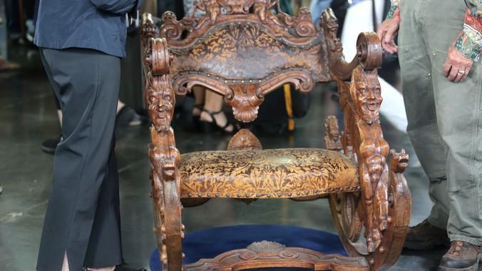 Read Appraisal Transcript - Venetian Hand-carved Rocking Chair, Ca. 1880 Antiques Roadshow PBS