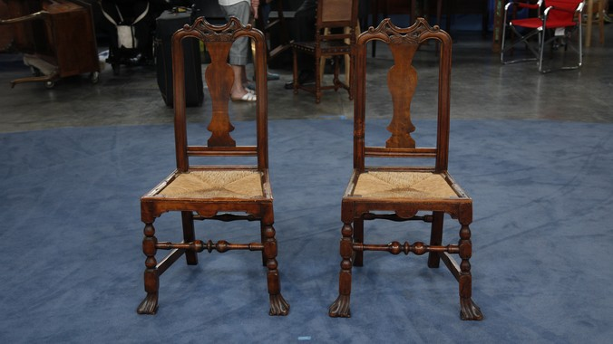 Two John Gaines Side Chairs, ca. 1725 - Two John Gaines Side Chairs, Ca. 1725 Antiques Roadshow PBS