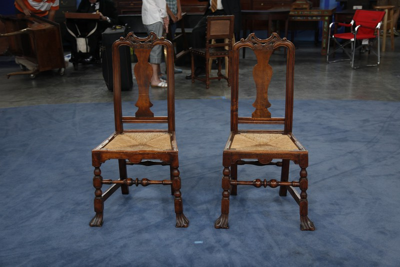 Two John Gaines Side Chairs, Ca. 1725 | Antiques Roadshow | PBS