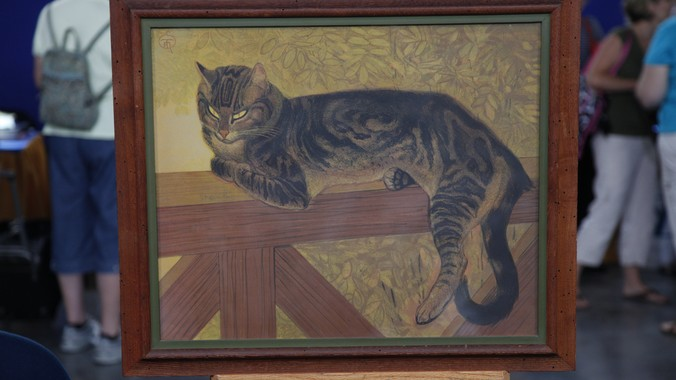 1909 theophile steinlen summer cat color lithograph antiques