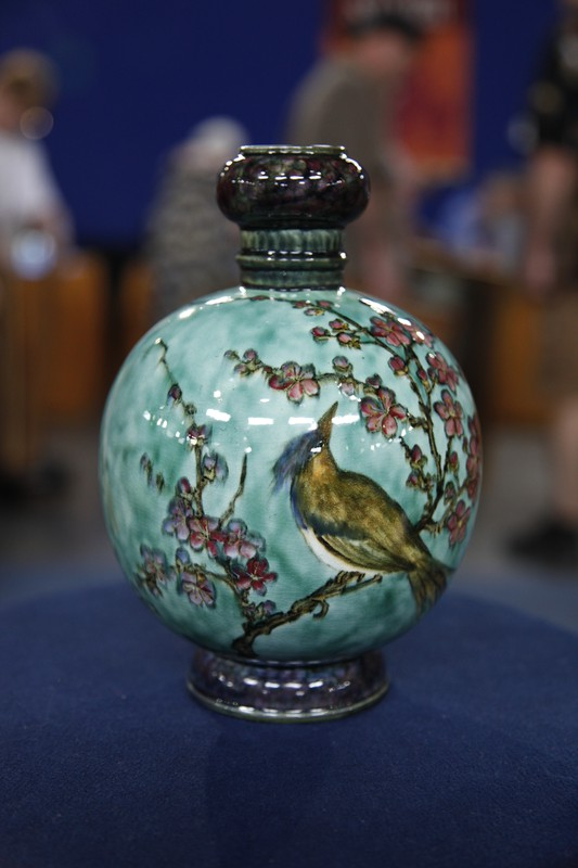John Bennett Faience Vase With Bird Ca 1885 Antiques Roadshow Pbs