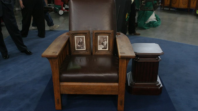 Leopold & John George Stickley Chair, ca. 1917 - Leopold & John George Stickley Chair, Ca. 1917 Antiques Roadshow PBS