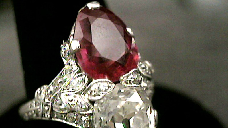 Art Deco Diamond And Ruby Jewelry Ca 1925 Antiques