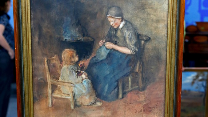 Things To Do In Omaha >> Late 19th-Century Albert Neuhuys Watercolor | Antiques ...