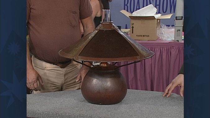 Dirk Van Erp Lamp Ca 1910 Antiques Roadshow Pbs