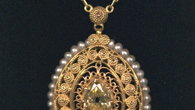 Tiffany co yellow diamond pendant antiques roadshow pbs read appraisal transcript mozeypictures Image collections