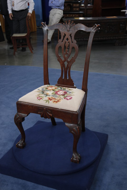 Philadelphia Chippendale Walnut Chair Ca 1775 Antiques