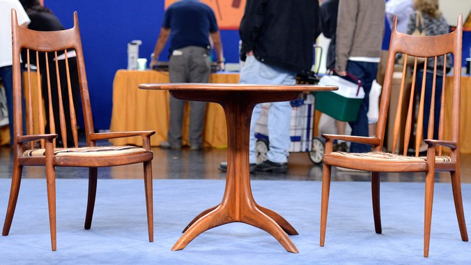 1969 Sam Maloof Chess Table Amp Chairs Antiques Roadshow Pbs