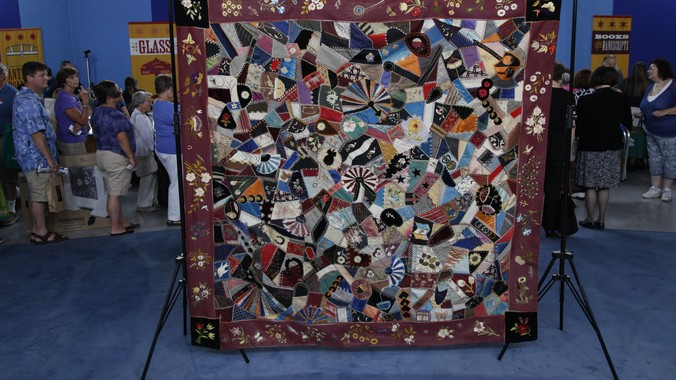 Crazy Quilt, ca. 1880 | Antiques Roadshow | PBS : old quilts value - Adamdwight.com