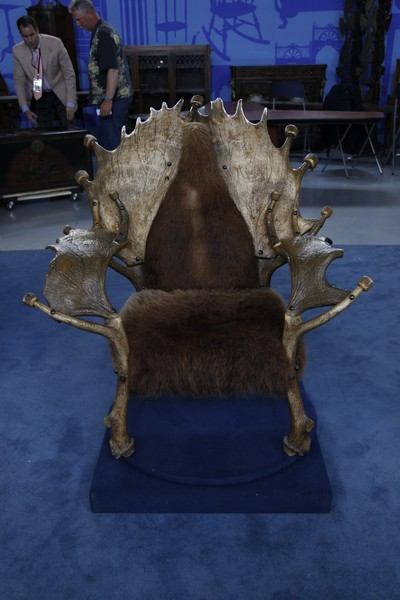 Moose, Elk U0026 Buffalo Hide Chair, Ca. 1920 | Antiques Roadshow | PBS