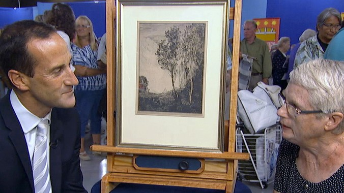 Jean Baptiste Camille Corot Etching Antiques Roadshow Pbs