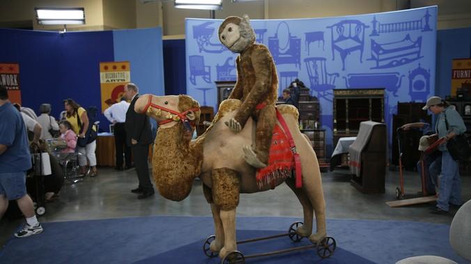 Large Steiff Camel Amp Monkey Ca 1908 Antiques Roadshow