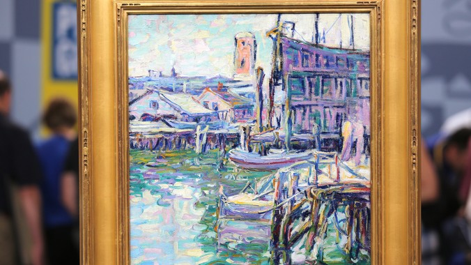 Best Buy Auction >> Kathryn Cherry Oil Painting, ca. 1925 | Antiques Roadshow | PBS