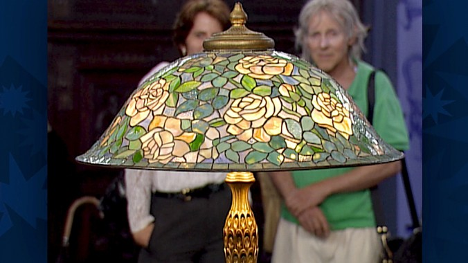 Tiffany Studios Rose Helmet Lamp Ca 1905 Antiques