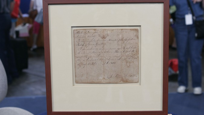 1805 Davy Crockett Unexecuted Marriage License | Antiques
