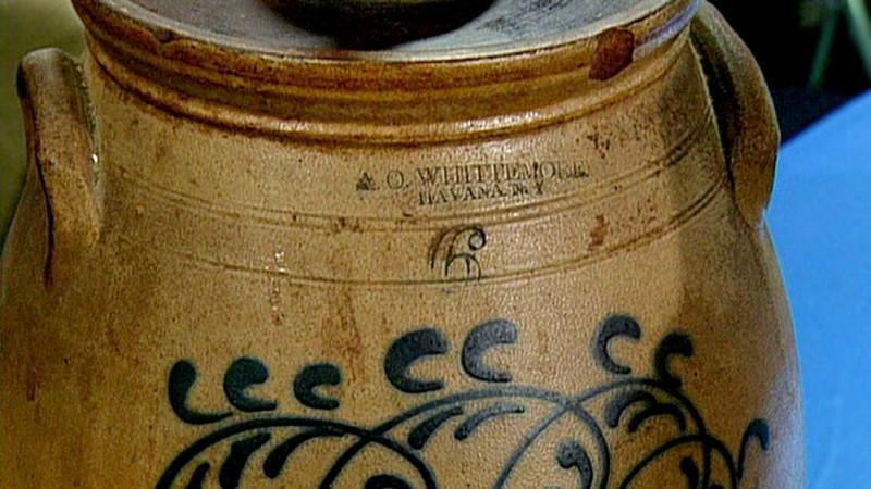 1863 New York Stoneware Butter Churn Antiques Roadshow Pbs