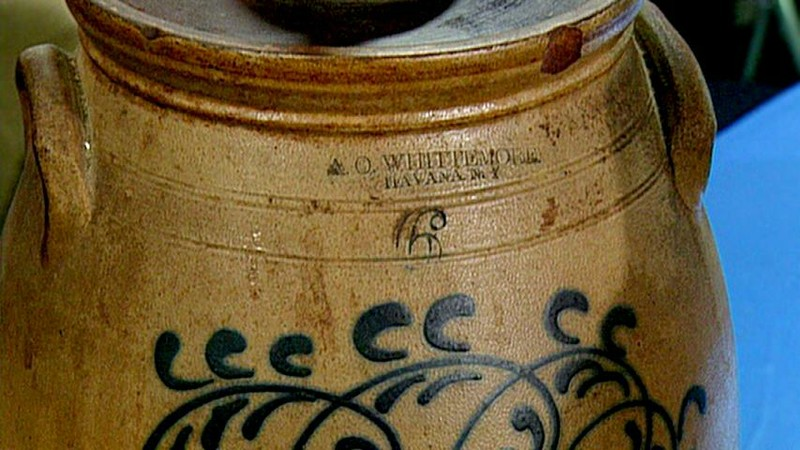 1863 New York Stoneware Butter Churn Antiques Roadshow Pbs