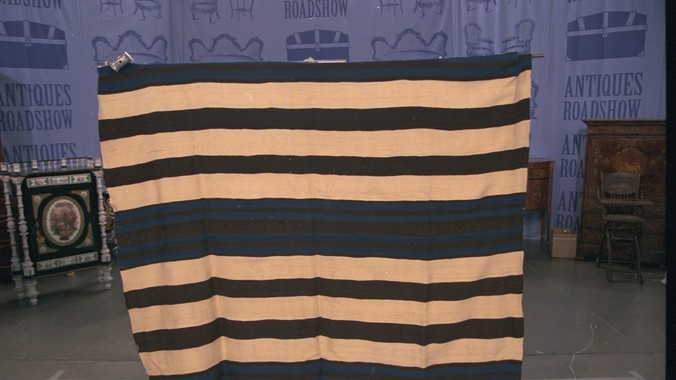 Navajo Ute First Phase Blanket Ca 1850 Antiques