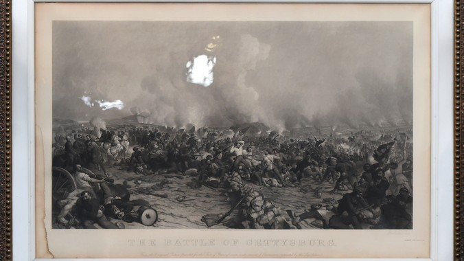 1872 Peter Rothermal Quot Battle Of Gettysburg Quot Print