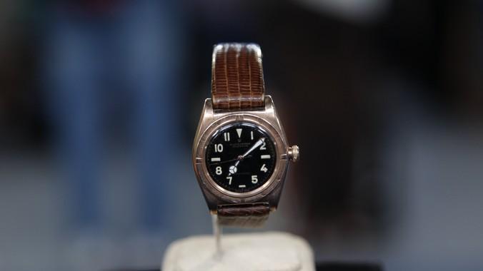 1943 Black Dial Rolex Bubbleback