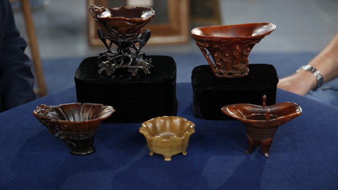 Chinese Rhinoceros Horn Cups, ca  1700 | Antiques Roadshow | PBS