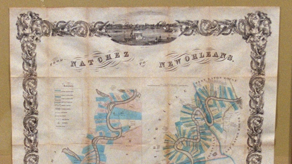 Map Of Arizona 1858.1858 Map Of Lower Mississippi Goes Off The Charts Antiques