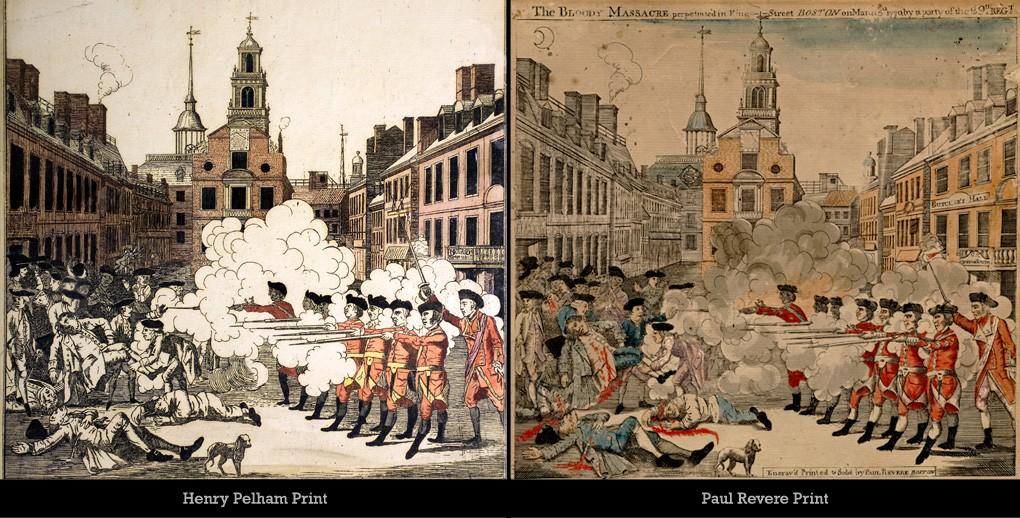paul revere s depiction of the boston