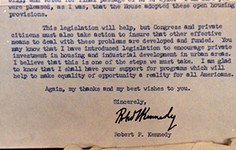 Highlight | 1968 Robert F. Kennedy Letter