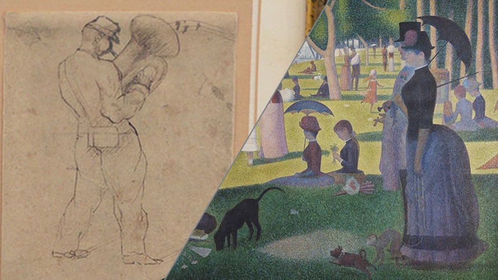 Georges Seurat From Pen To Pointillism Antiques Roadshow Pbs