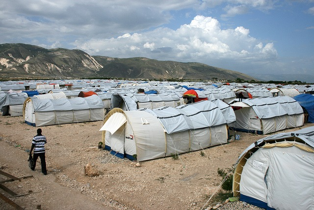 Tent camp outside Port au Prince