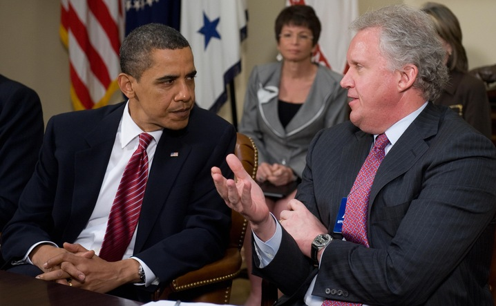 President Obama and Jeffrey Immelt