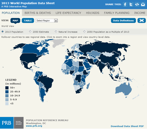 Africa leads world with fastest growing population pbs newshour - Population reference bureau ...