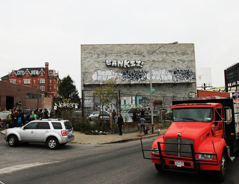 Banksy in Queens for his final installation