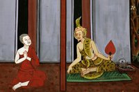 Bodhisattva receives instruction