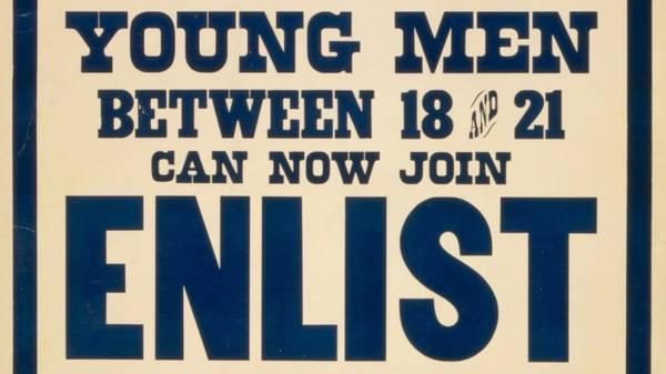Young Men Enlist