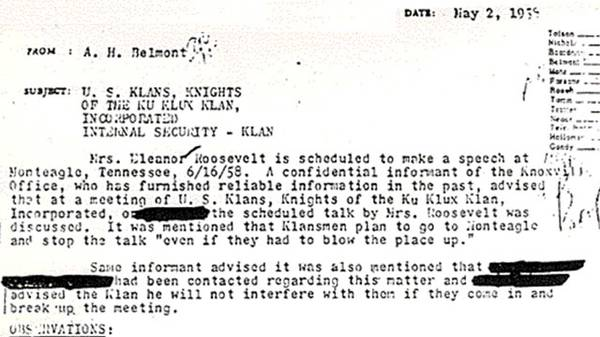 FBI Files on Eleanor Roosevelt