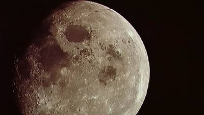 Looking at the Moon from Apollo 8 poster image
