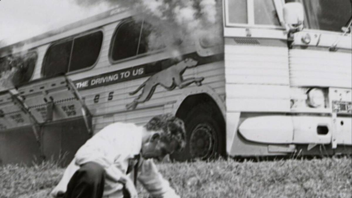 The freedom riders a group a people who took a bus to the south to stop segregation